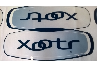 XOOTR FRAME STICKER (GREY/BLUE)