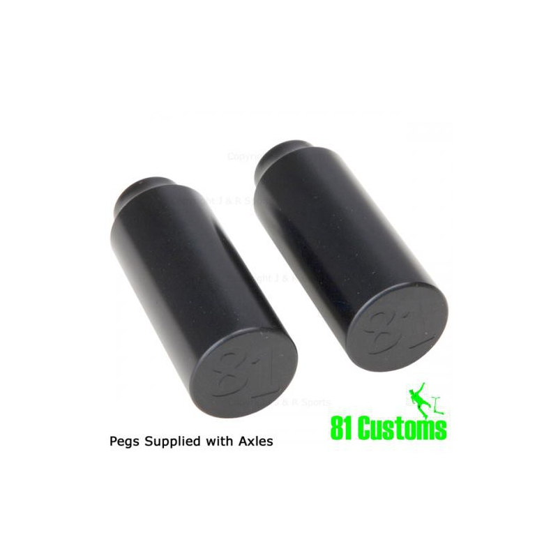 81 CUSTOM PEGS - BLACK (PAIR)