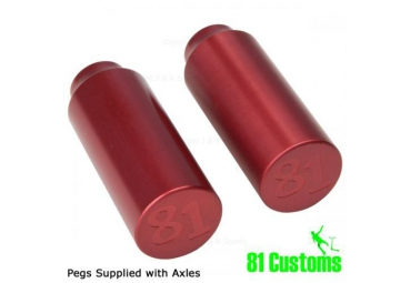 81 CUSTOM PEGS - RED (PAIR)