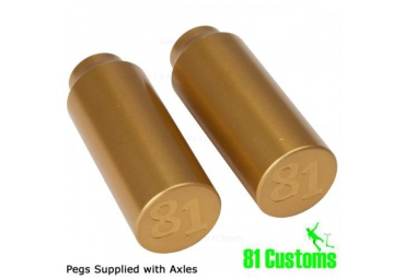 81 CUSTOM PEGS - YELLOW (PAIR)
